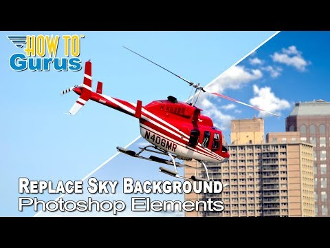 How To Change a Sky Background in Photoshop Elements 2018 15 14 13 12 11 Tutorial