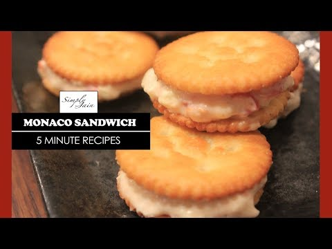5 Minutes Monaco Sandwich | How To Make Biscuit Starter | Simply Jain