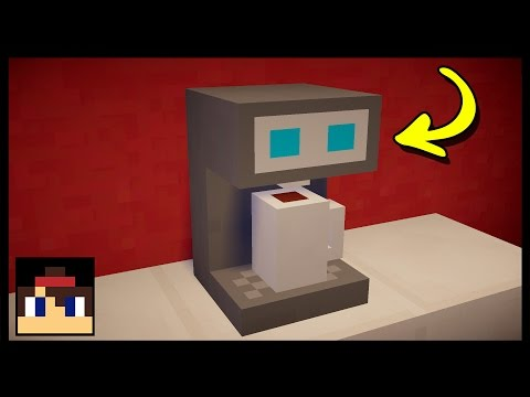 ✔ Minecraft: How To Make A Working Coffee Machine | No Mods!