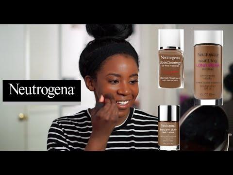 NEW! Neutrogena Chestnut: 3 Foundations for WOC Demo | Healthy Skin | Long Wear | Skin Clearing