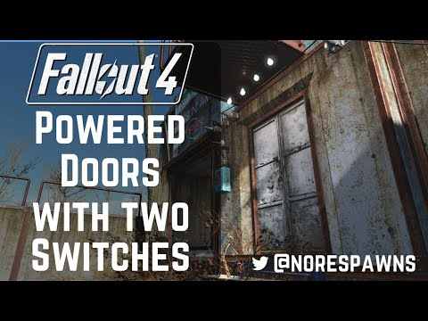 Fallout 4 Guide - Working Powered Doors with TWO switches