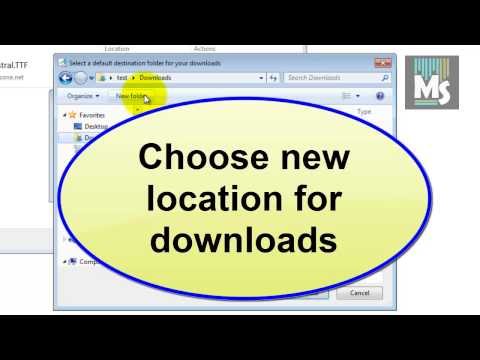 How to change default downloads location in internet explorer 9 | IE9 Tips & Tricks