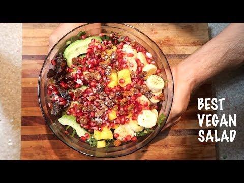 The BEST VEGAN SALAD Recipe + Healthy Vegan Salad Dressing!