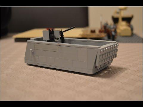 Lego WW2: D Day Landing Craft/ Higgins Boat Tutorial