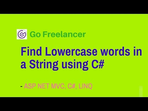 Find Lowercase words in a String using C#