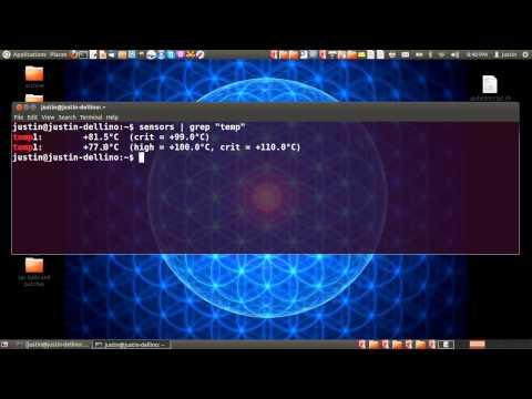 Check CPU Temperature in Ubuntu 12.04