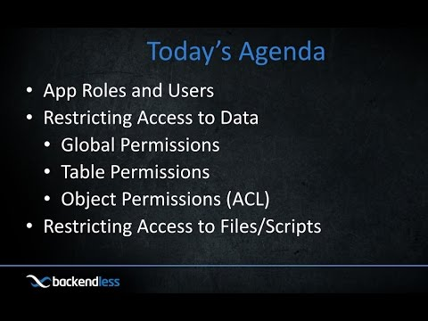 Backendless Security Webinar
