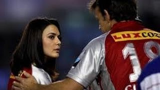 Angry Preity Zinta in IPL