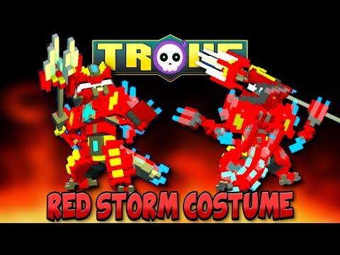 BEST LUNAR LANCER COSTUME!? TROVE 'RED STORM' CASH SHOP COSTUME!