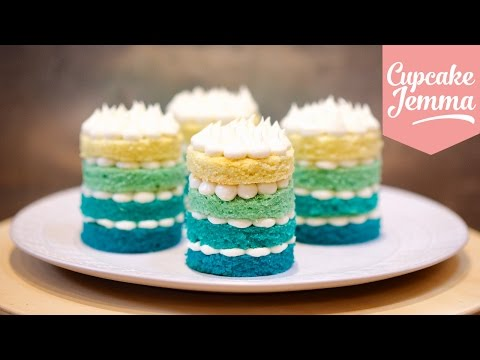 How to Make Mini Ombré Cakes | Cupcake Jemma