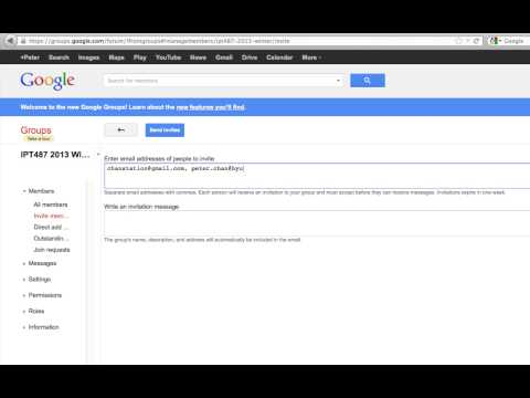 Google Groups: How to Set Up