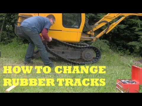 How to change Mini Digger Rubber Tracks