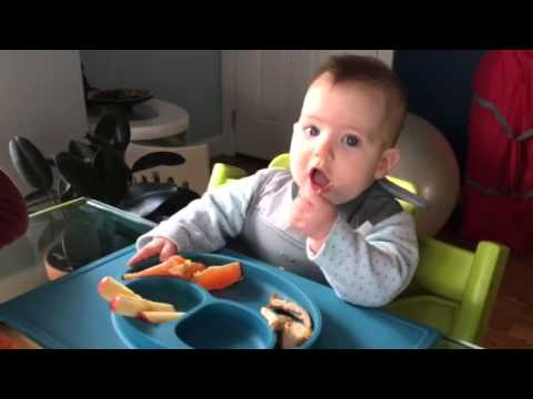 Baby led weaning - chicken breast, oranges