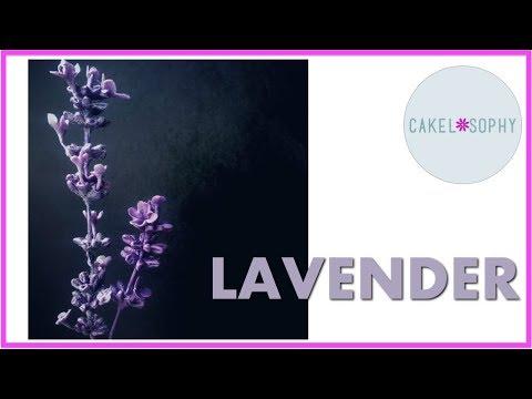 LAVENDER Using Cold Porcelain or Gumpaste (...and FLOCK)!