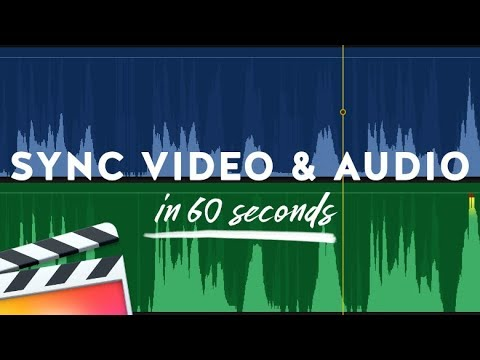 How to Sync Video and Audio in Final Cut Pro X