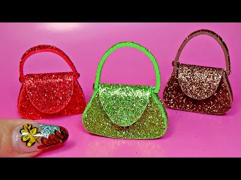 Miniature bag diy │ How to make a miniature purse │ Doll Stuff