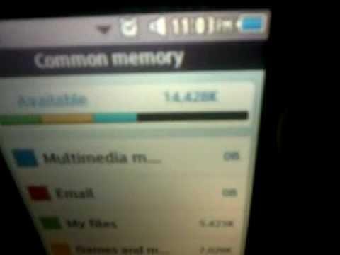 Samsung Corby II (Memory Status)