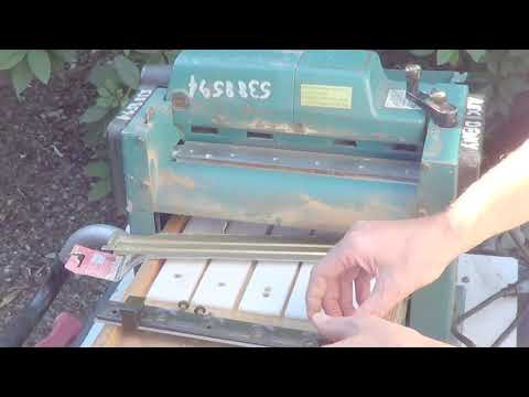 How to change the Blades in a Makita Thickness  Planer , Workshop Series #3