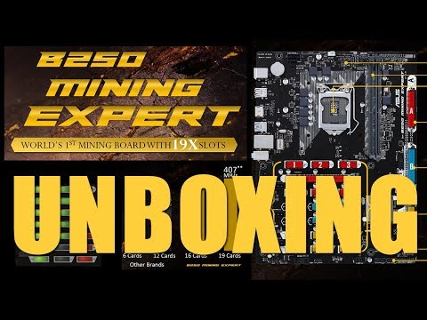 Asus B250 Mining Expert Unboxing - 19X PCIe Slots!