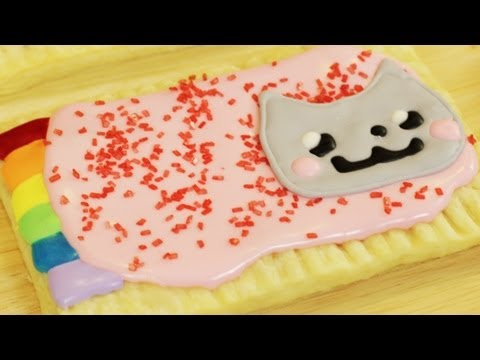 HOW TO MAKE HOMEMADE NYAN CAT POPTARTS - NERDY NUMMIES