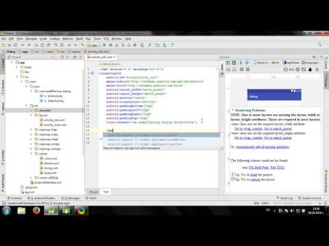 Create Dialog Activity in Android Studio