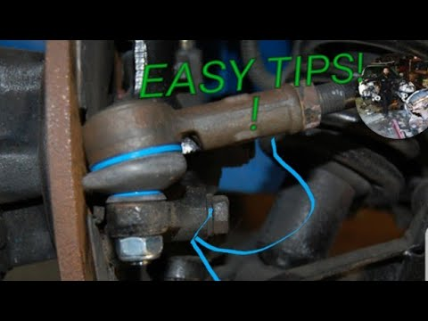 How to tighten/remove spinning tie rod nut