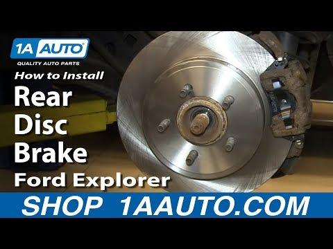 How To Install Do a Rear Disc Brake Job 2002-05 Ford Explorer Mercury Mountaineer