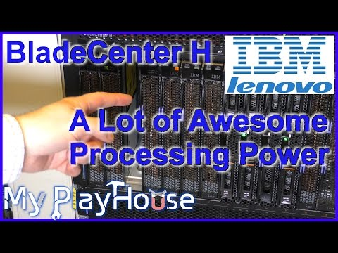Lenovo/IBM BladeCenter H - 14 Servers, 28 CPU´s in Just 9U -522