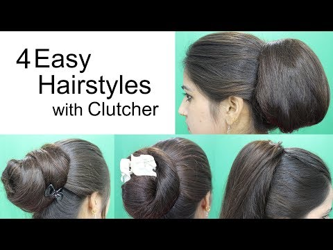 4 Awesome Hairstyles by using Clutcher | Hairstyles for medium or long hair