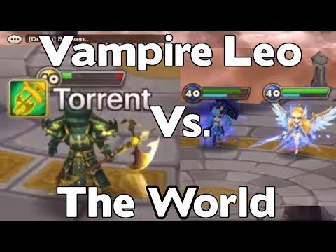 Summoners War - Vampire Leo vs. The World - RTA with Leo