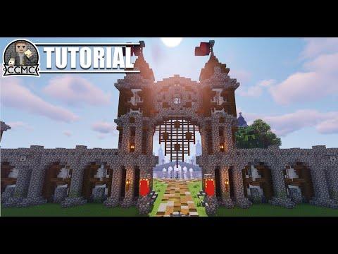 How to build Medieval Rustic City Gate Minecraft Tutorial Video