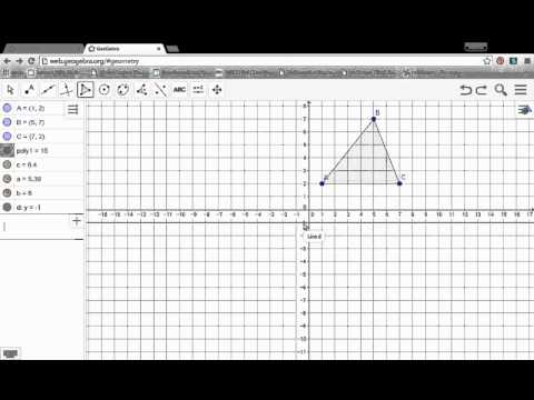 Reflections in Geogebra