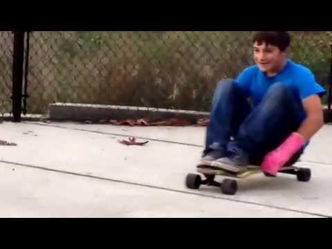Longboard speed wobbles funny