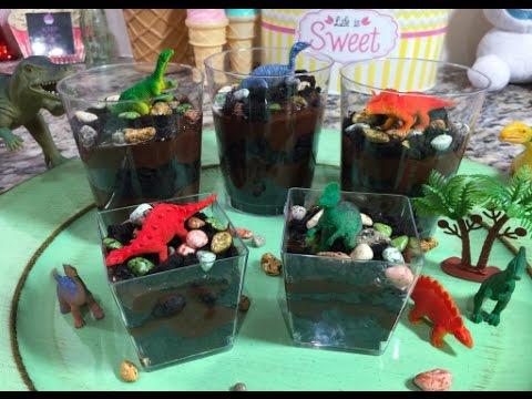 Dinosaur Oreo & Chocolate Pudding Cups
