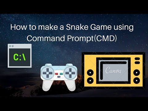 How to make a Snake Game using Command Prompt (CMD)