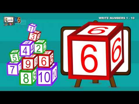 How to write numbers for children-Write Numbers 1-10 Writing numbers for children