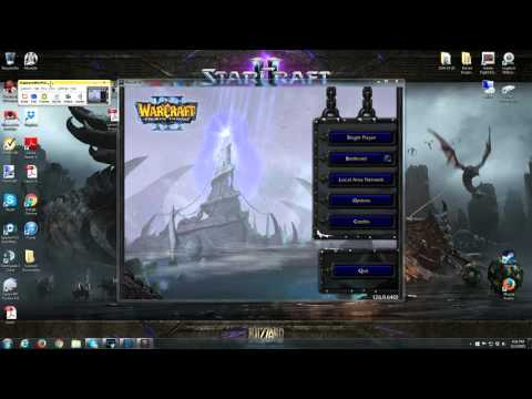 WarCraft 3 - how I get 4:3 Aspect ratio on widescreen monitors
