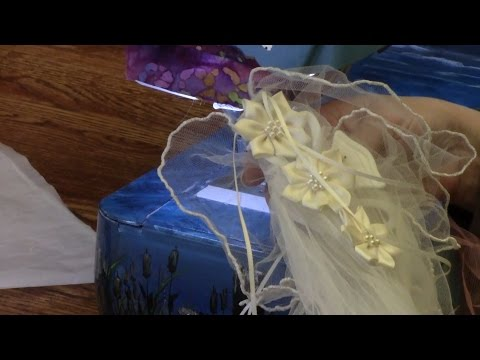 Sewing Pearls onto Wedding Tulle - Episode 3