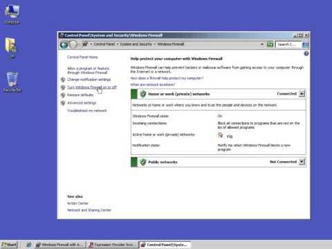 Finding Window's Firewall Settings