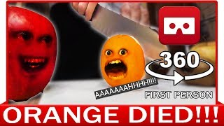 360° VR VIDEO - Funny Annoying Orange Finally Knifed! Dead Parody | VIRTUAL REALITY
