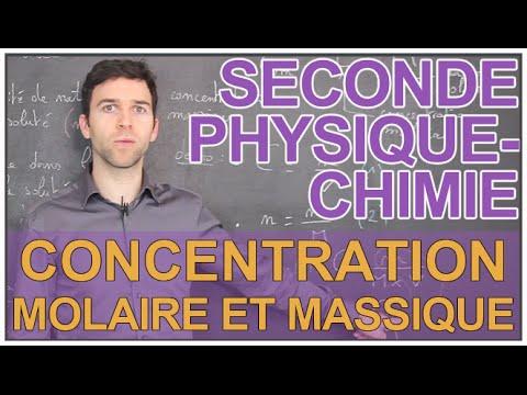 Concentration molaire et massique - Physique-Chimie - Seconde - Les Bons Profs