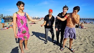 Crazy dares on the beach PART 3!