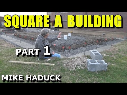 How I square a building (Mike Haduck) footer & block
