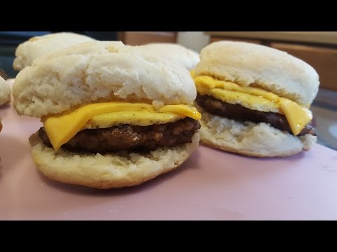 How to make sausage, egg and cheese biscuits from scratch