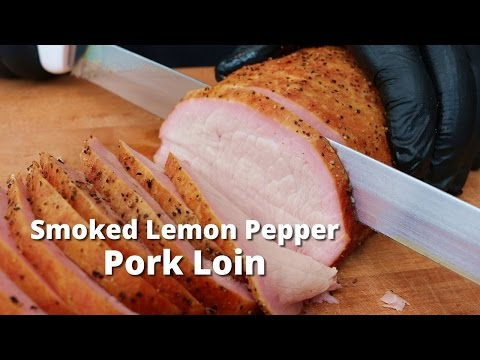 Smoked Lemon Pepper Pork Loin | Smoked Pork Loin Sandwiches on Yoder Pellet Grill