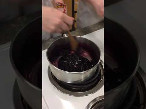 Blueberry Turnover: making the filling and stretching the dough