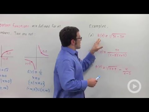 Finding the domain of a function(HD)