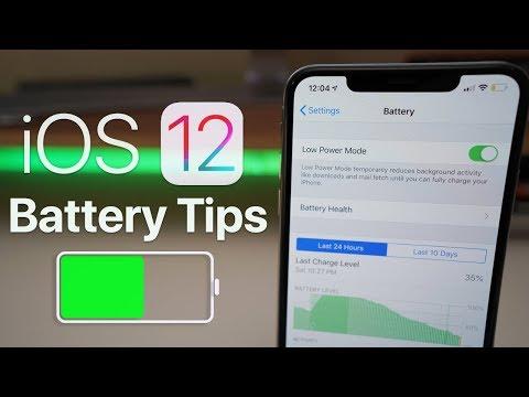 iOS 12 - Battery Saving Tips