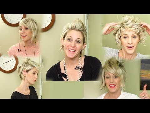 5 WAYS TO STYLE SHORT HAIR // Youtube hairstyles