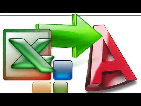 EXPORT FROM EXCEL TO AutoCAD  How to import X,Y Coordinates from Excel to AutoCAD